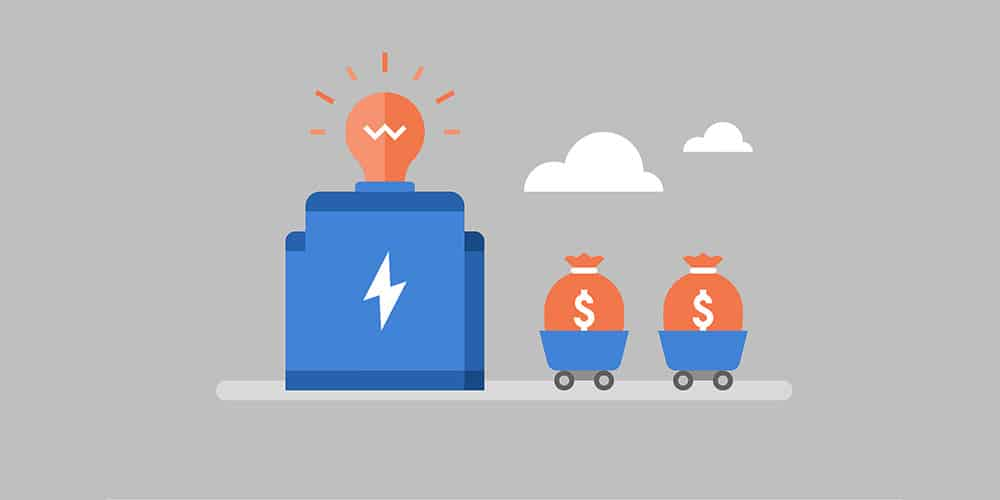 idea and money illustration